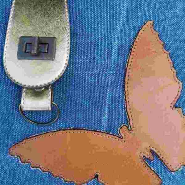 Tote bag en cuir et toile made in France