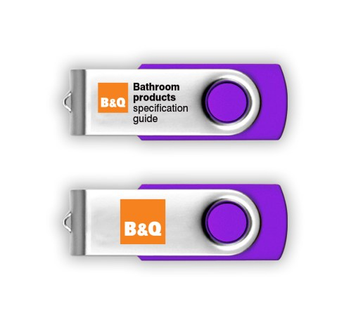 B&Q Bathroom products specification guide USB stick