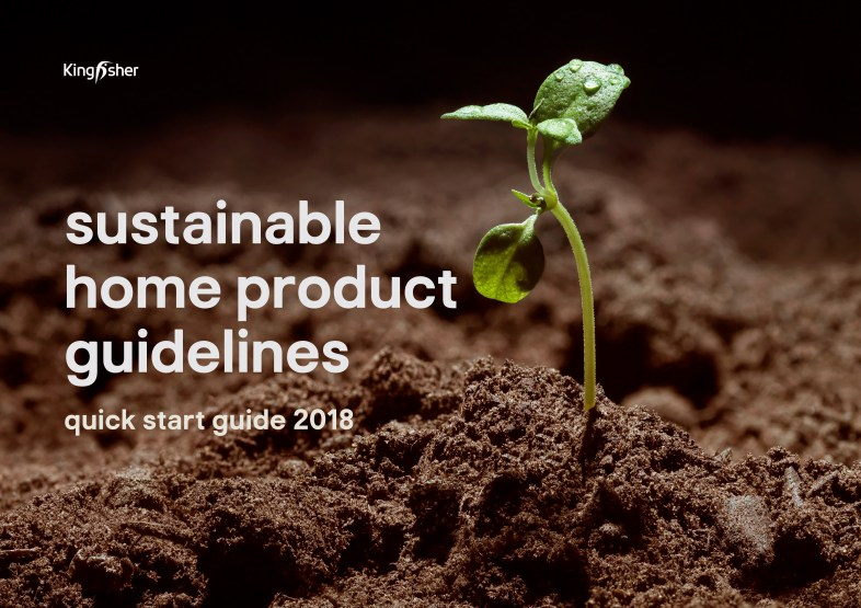 Kingfisher Sustainable Home Products quick guide 2018 cover