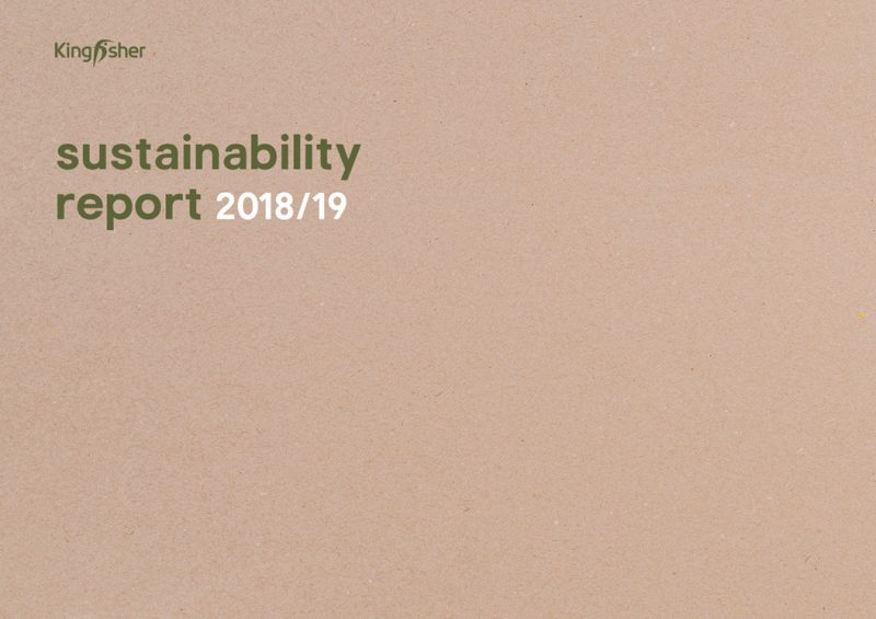Kingfisher Sustainability Report 2019 front