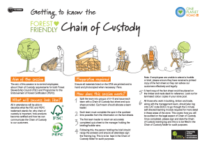 B&Q Forest Friendly Chain of Custody Activity Sheet