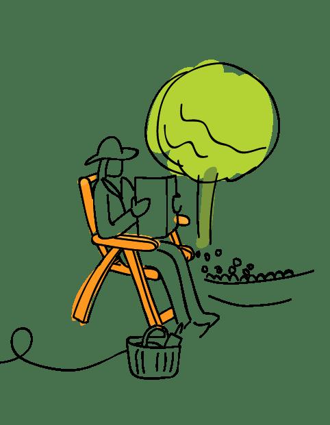 B&Q Forest Friendly Illustration Garden Furniture