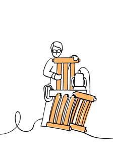 B&Q Forest Friendly Illustration, Manufacture of Garden Chair