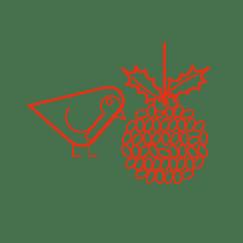 Kingfisher Sustainable Christmas icon 'Wildlife' part of communication graphics
