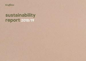Kingisher Sustainability Report 2019 front