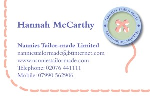 Nannies Tailor-made stationery business card