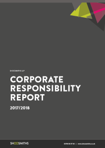 Shoosmiths CR report 2018 front