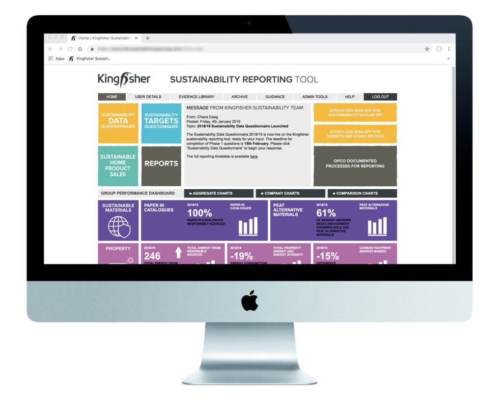 Kingfisher Sustainability Reporting Tool