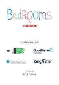 'Bedrooms of London' exhibition logo board