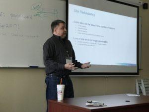 Maxwell Myrick presenting Mission Critical SQL Server