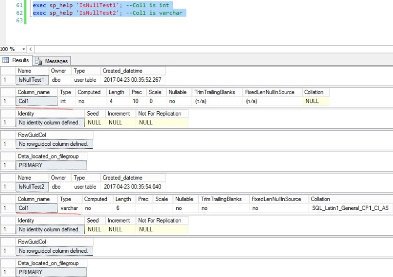 Data type of column is different depending on the arguments to IsNull and Coalesce