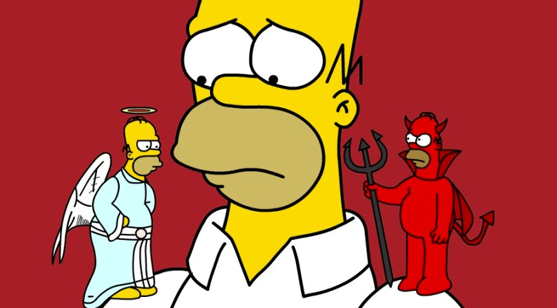 Homer - Angel and Devil