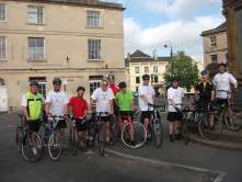 Market Place, Chippenham at the start of the ride.