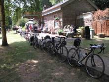 All our bikes parked up at Tintern Railway Station.