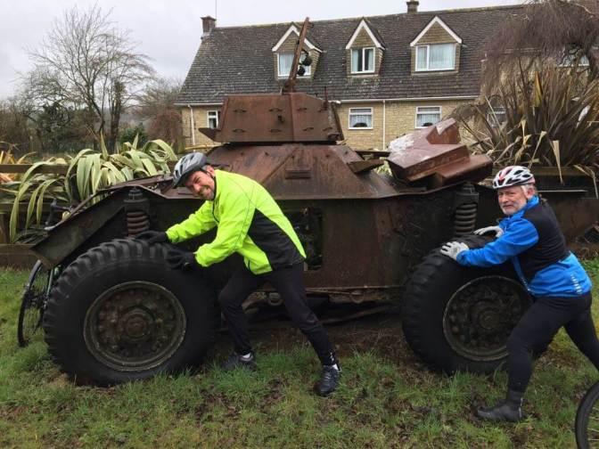 Fun with a tank. Braydon, Wiltshire.