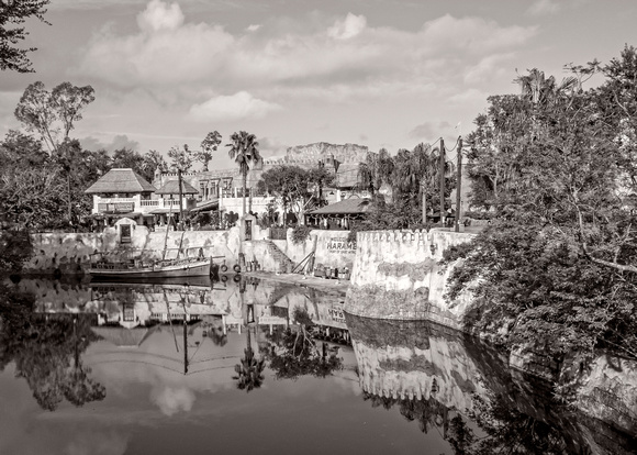 MLCreations Photography: WDW in B&W &emdash; Harambe Port