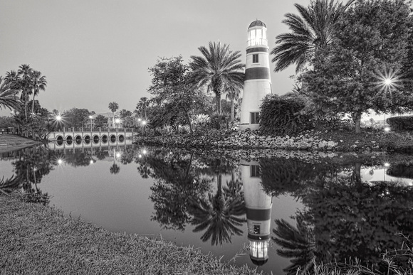 MLCreations Photography: WDW in B&W &emdash; Reflected Lighthouse
