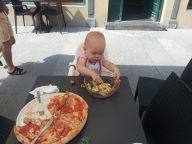 Milena w restauracji
