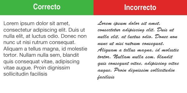 Tipografía Adecuada
