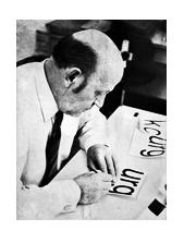 Max Miedinger, creador de la tipografía Helvética