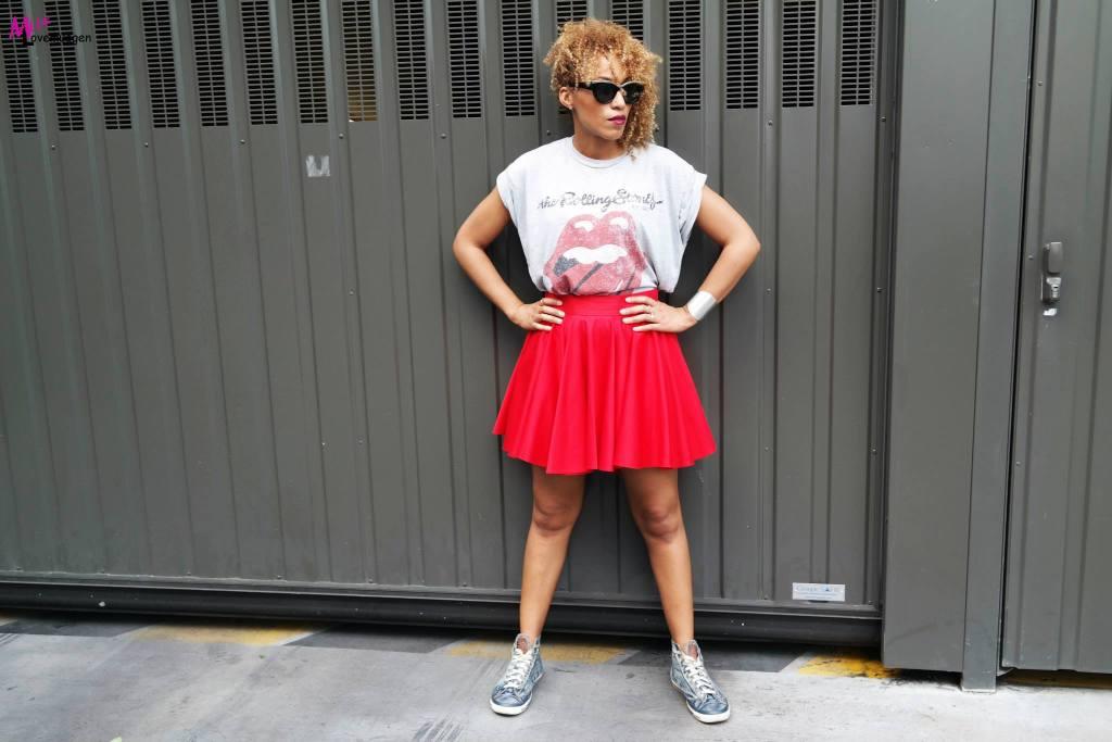 Look jupe flamboyante