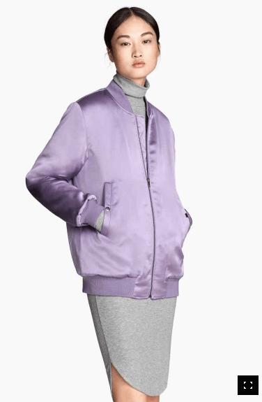 Bombers H&M couleur mauve 59,90€