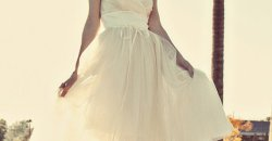 robe-mariage-bustier-courte-tulle-paillettes