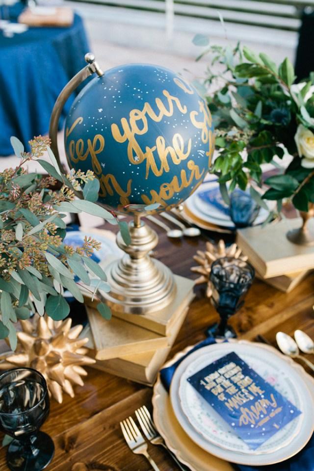 décoration de table lunaire
