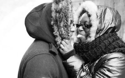 Deux amoureux au parc André Citroen
