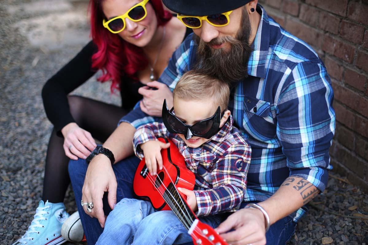 photos de famille colorées