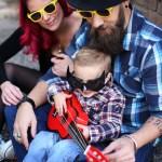 Des photos de famille colorées