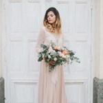 Un shooting mariage rose et or