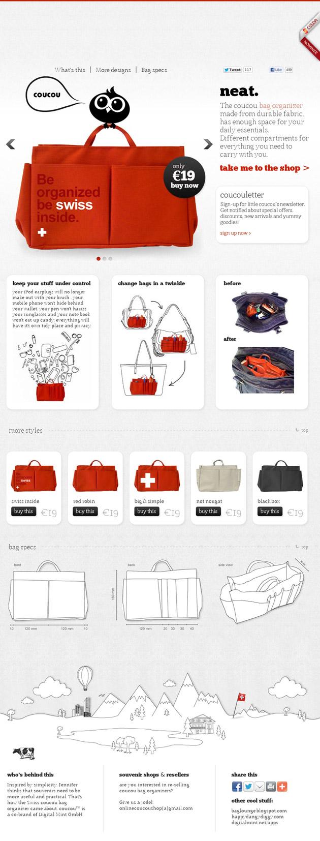 Coucou- Inspiración web design