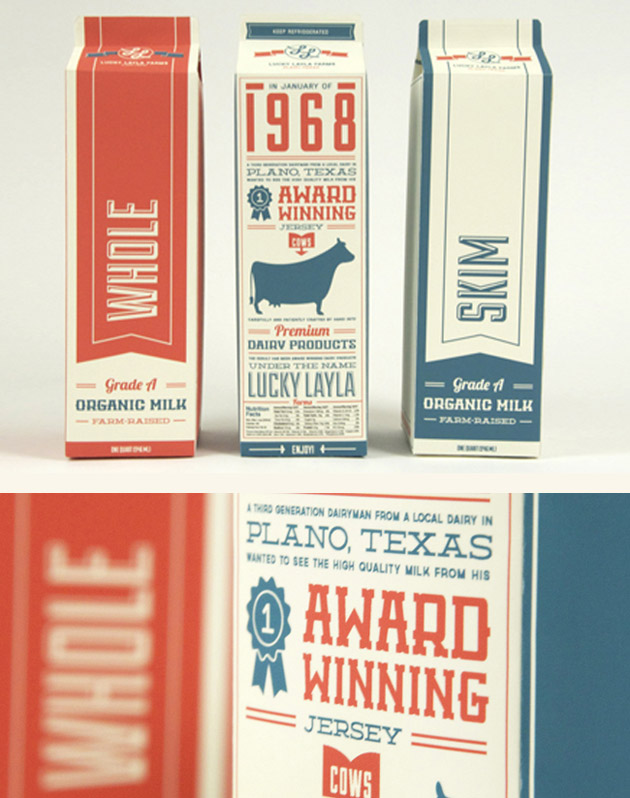 Packaging Leche, Lucky Layla Farms by Jay Ressler