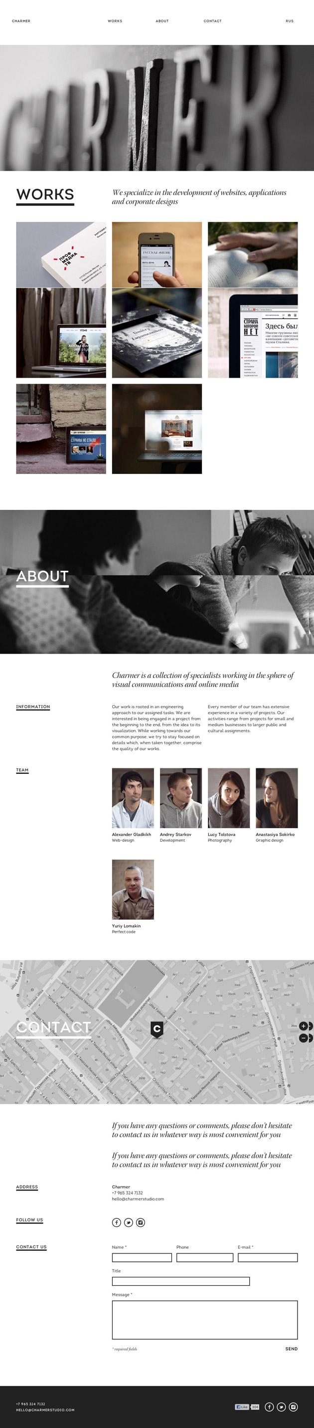 Charmer- Inspiración web design