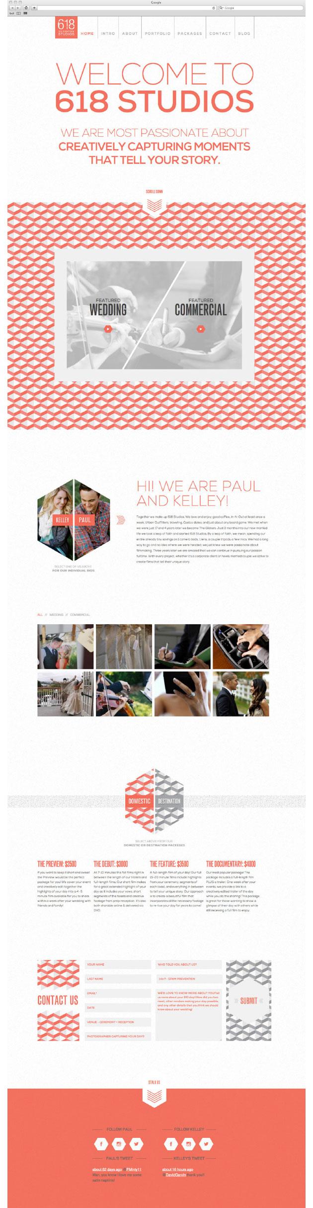 618 Studios - Inspiración web design