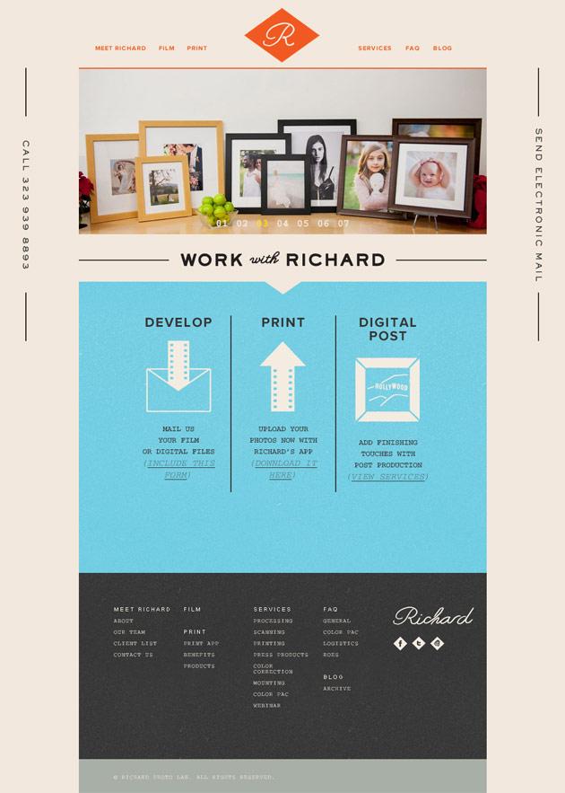 Richard Photolab - Inspiración web design