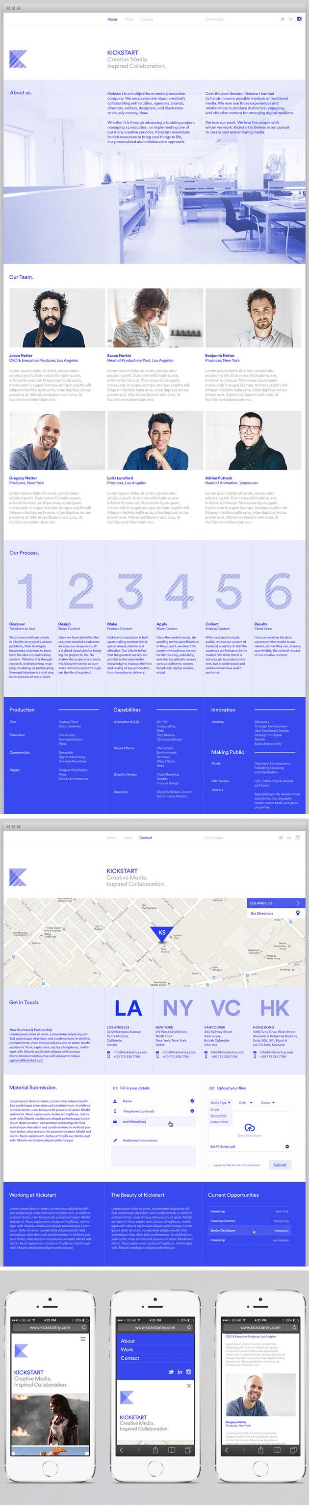 Kickstart Media Group - Inspiración web design