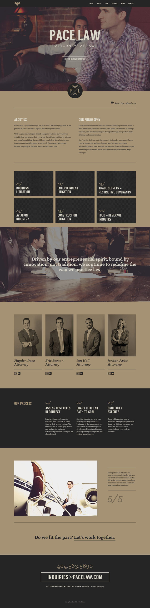 Pace Law - Inspiración web design