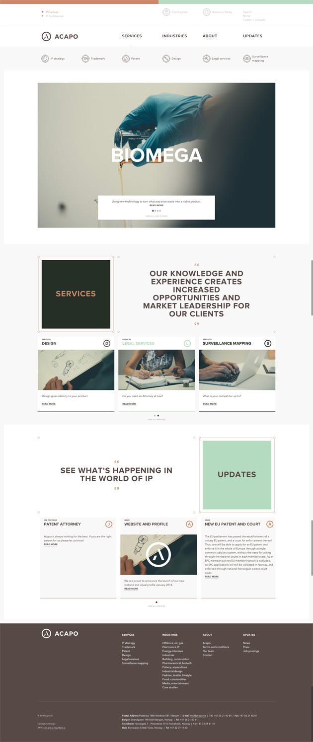 Acapo - Inspiración web design