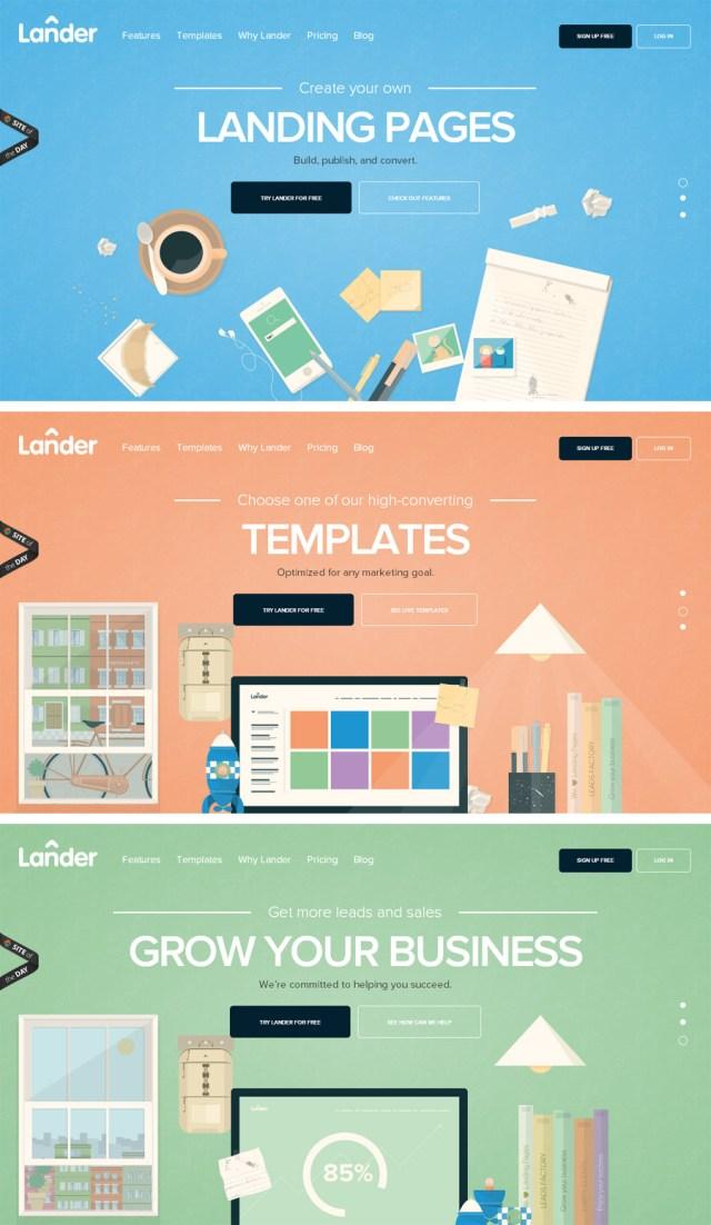 Lander - Inspiración web design