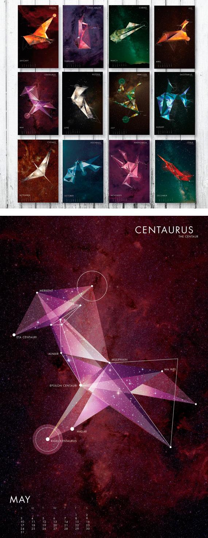 Constellation Mini Calendar - Calendarios Creativos 2016