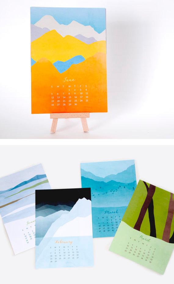 Landscape Calendar - Calendarios Creativos 2016