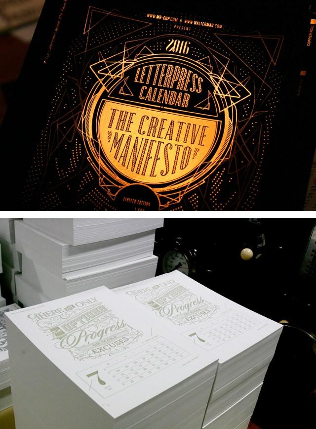 The Creative Manifesto - Calendarios Creativos 2016