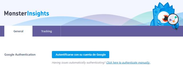 Botón Autentificarse con su cuenta de Google