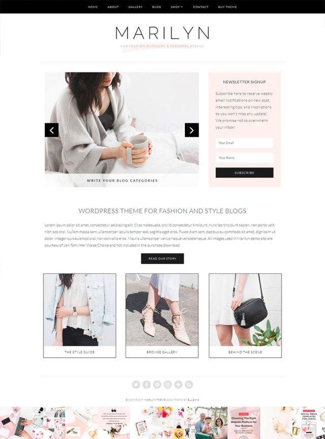 10 temas de WordPress para blogs de moda | MlMonferrer