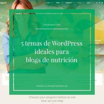 temas premium recomendados para blogs de nutrición y dietética