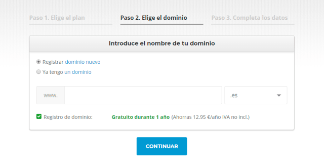 Dominio SiteGround para tu hosting wordpress