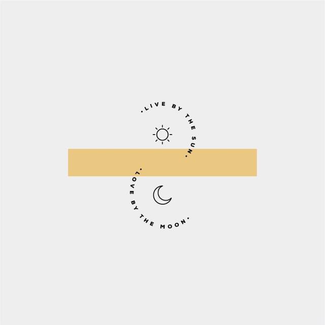 """Live by the sun, Love by the moon"" by the.binding  | 10 consejos para crear imágenes con citas | mlmonferrer.es"