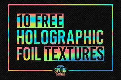 Textures To Simulate Holographic Foil Print Effects/ Texturas holografía | Recursos gratuitos de junio para diseñadores  | mlmonferrer.es